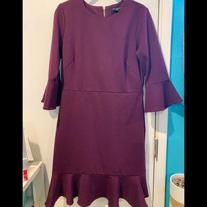 Sharagano burgundy dress